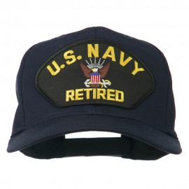 US Navy Retired Military Patched Cap - Navy