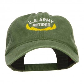US Army Retired Emblem Embroidered Washed Cap