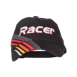 Racer Embroidered Deluxe Cotton Cap