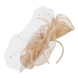Flower Net Sinamay Fascinator