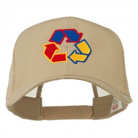 Recycle Logo Embroidered Mesh Cap