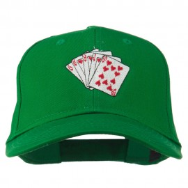 Royal Flush Embroidered Cotton Twill Cap