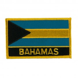 North and South America Flag Embroidered Patch - Bahamas