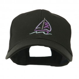 Sailboat with Wave Logo Embroidered Cap