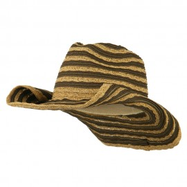 Women's UPF 50+ Striped Cowboy Hat