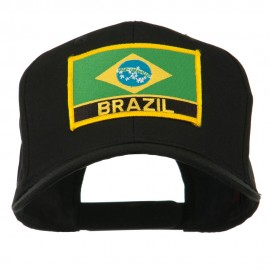 South America Brazil Flag Patched High Pro Style Cap