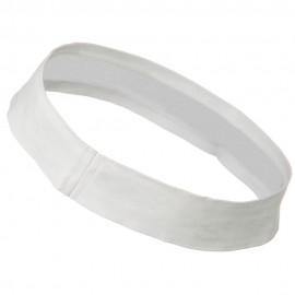 Cotton Twill Stretchable Hat Band - White