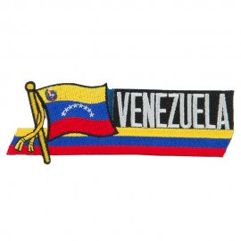 South America Cutout Embroidered Patch