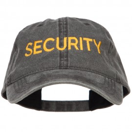 Security Embroidered Washed Buckled Cap