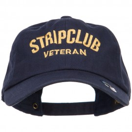 Stripclub Veteran Embroidered Unstructured Cap