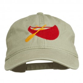 Sport Canoe Embroidered Washed Cap
