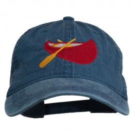 Sport Canoe Embroidered Washed Cap - Navy