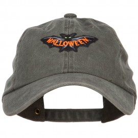 Halloween Scary Bat Patched Unstructured Cap