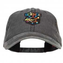 Science Patch Washed Cap - Black