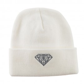 Small Diamond Embroidered Long Beanie