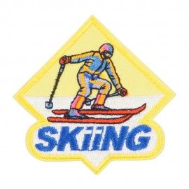 Skiing Embroidered Patches