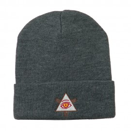 All Seeing Eye Embroidered Beanie