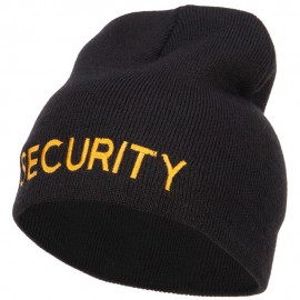 Security Embroidered Short Beanie