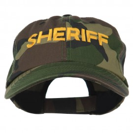 Sheriff Embroidered Enzyme Washed Camo Cap