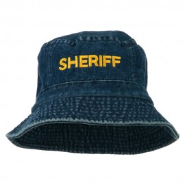 Sheriff Embroidered Pigment Dyed Bucket Hat