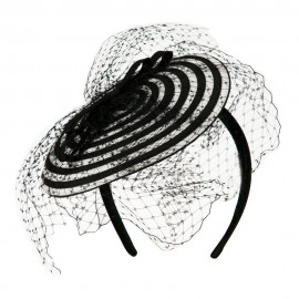 Swirl Pattern Fascinator Hat with Headband