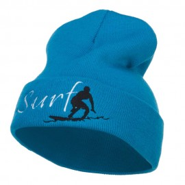 Surf Embroidered Long Beanie