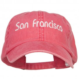 San Francisco Embroidered Washed Cap