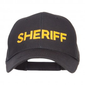Sheriff Embroidered Military Cotton Cap - Black