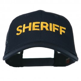 Sheriff Embroidered Military Mesh Back Cap