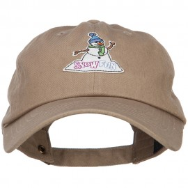 Snowman Snow Fun Patched Unstructured Cap