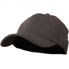 Stretch Heavy Weight Brushed Cotton Fitted Cap - Charcoal