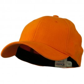 Stretch Heavy Weight Brushed Cotton Fitted Cap - Orange