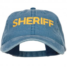 Sheriff Embroidered Washed Buckled Cap