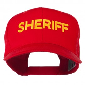 Sheriff Letter Embroidered High Profile Cap