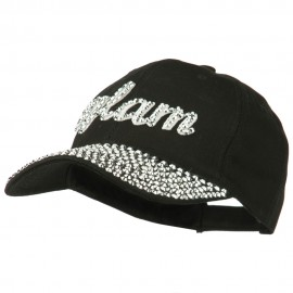 Glam Rhinestone Jeweled Baseball Cap