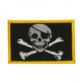 Skull and Choppers Embroidered Military Patch