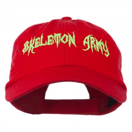 Halloween Skeleton Army Embroidered Low Profile Washed Cap