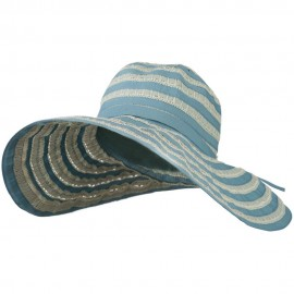 Women's Hat with Stitching And Loop Detail - Dusty Blue