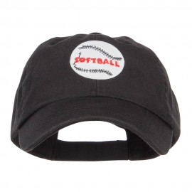 Softball Patched Low Pet Spun Cap