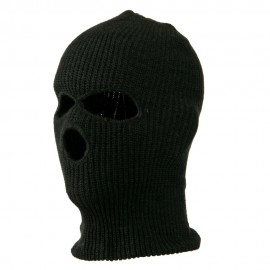 Ski Mask with Three Holes - Charcoal