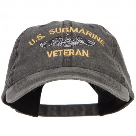 US Submarine Veteran Military Embroidered Washed Cap