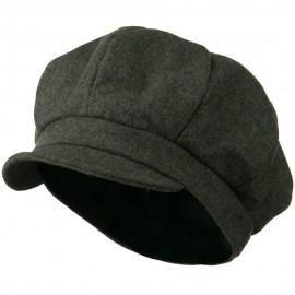 Men's Soft Brim Newsboy Cap with An Adjustable Size Buckle Closure