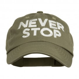 Never Stop Embroidered Washed Cap