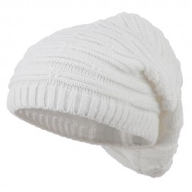 Stripe Patterned Deep Vintage Beanie