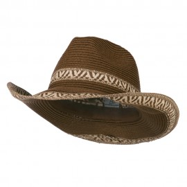 Paper Sewn Braid Designed Cowboy Hat