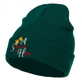 Season of Hope Embroidered Long Beanie