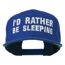I'd Rather Be Sleeping Embroidered Flat Bill Cap