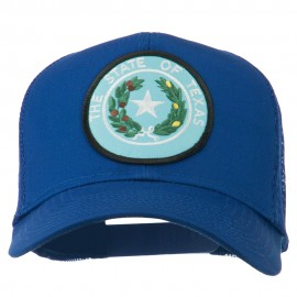 Texas State Seal Patched Cotton Twill Mesh Cap