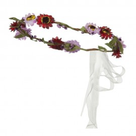 Floral Wreath and Silk Ribbon Headband
