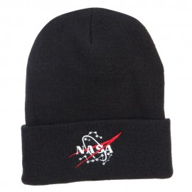 NASA Logo Embroidered Long Beanie